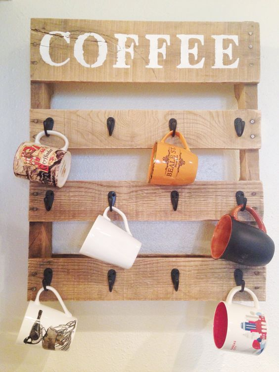 21 Diy Cup Holder Ideas, Enhances The Feel And Look Of Your Kitchen Area