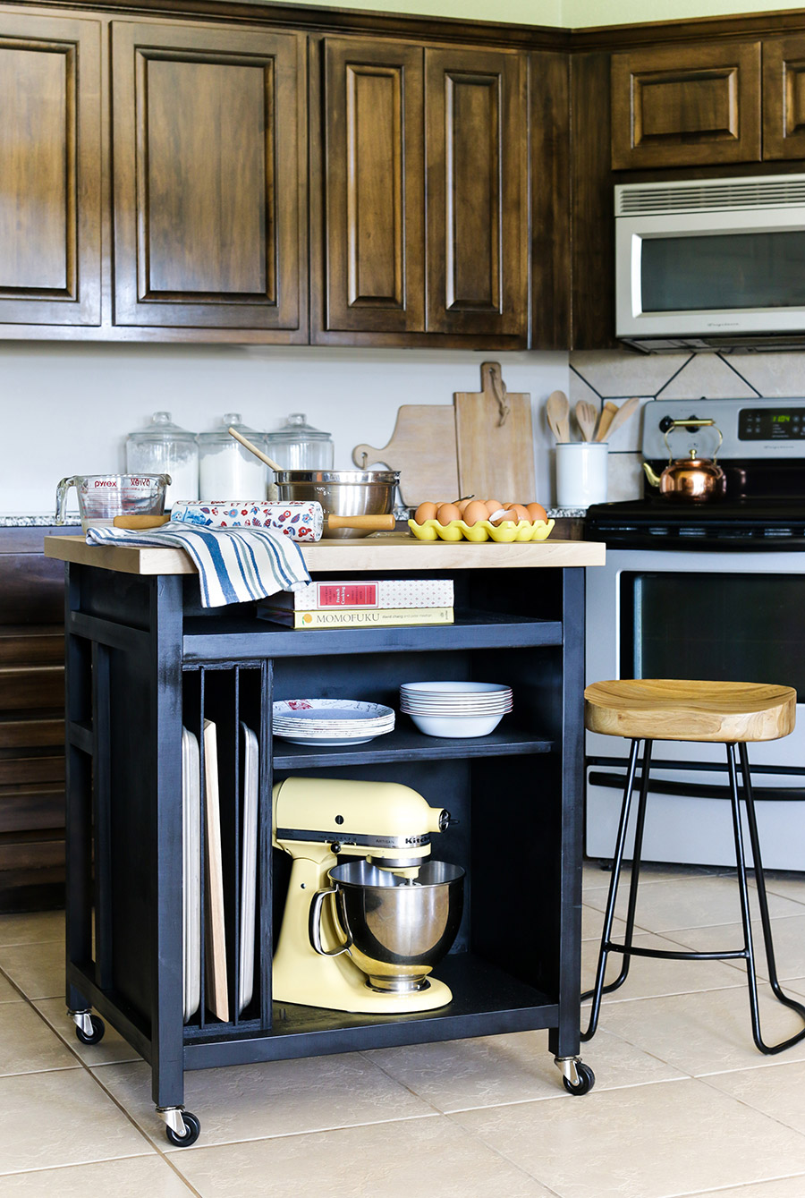 Easy and Workable Rolling kitchen island ideas (2)